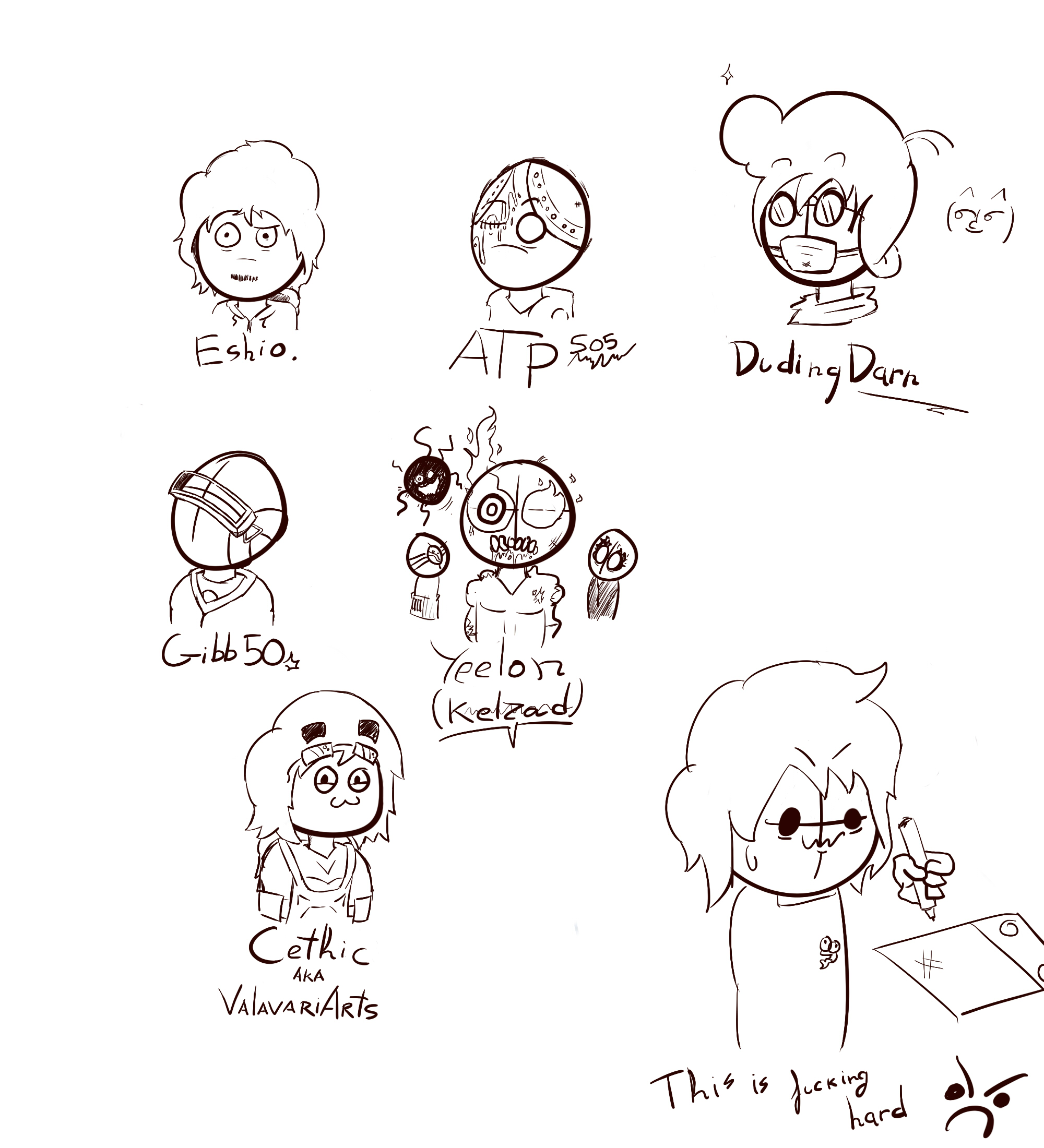 Madness OC sketches