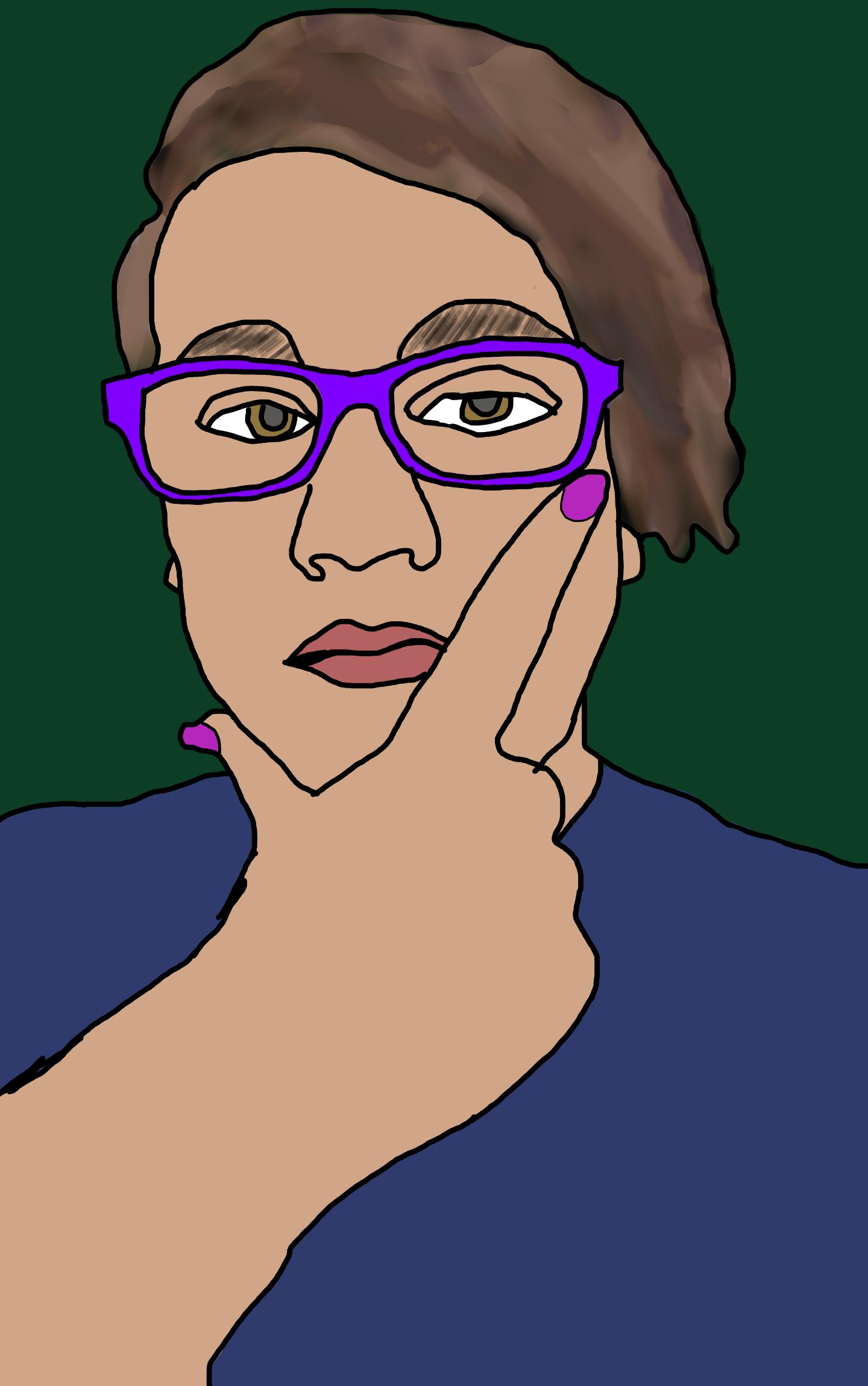 I Made Myself Into A Sketch Like Character