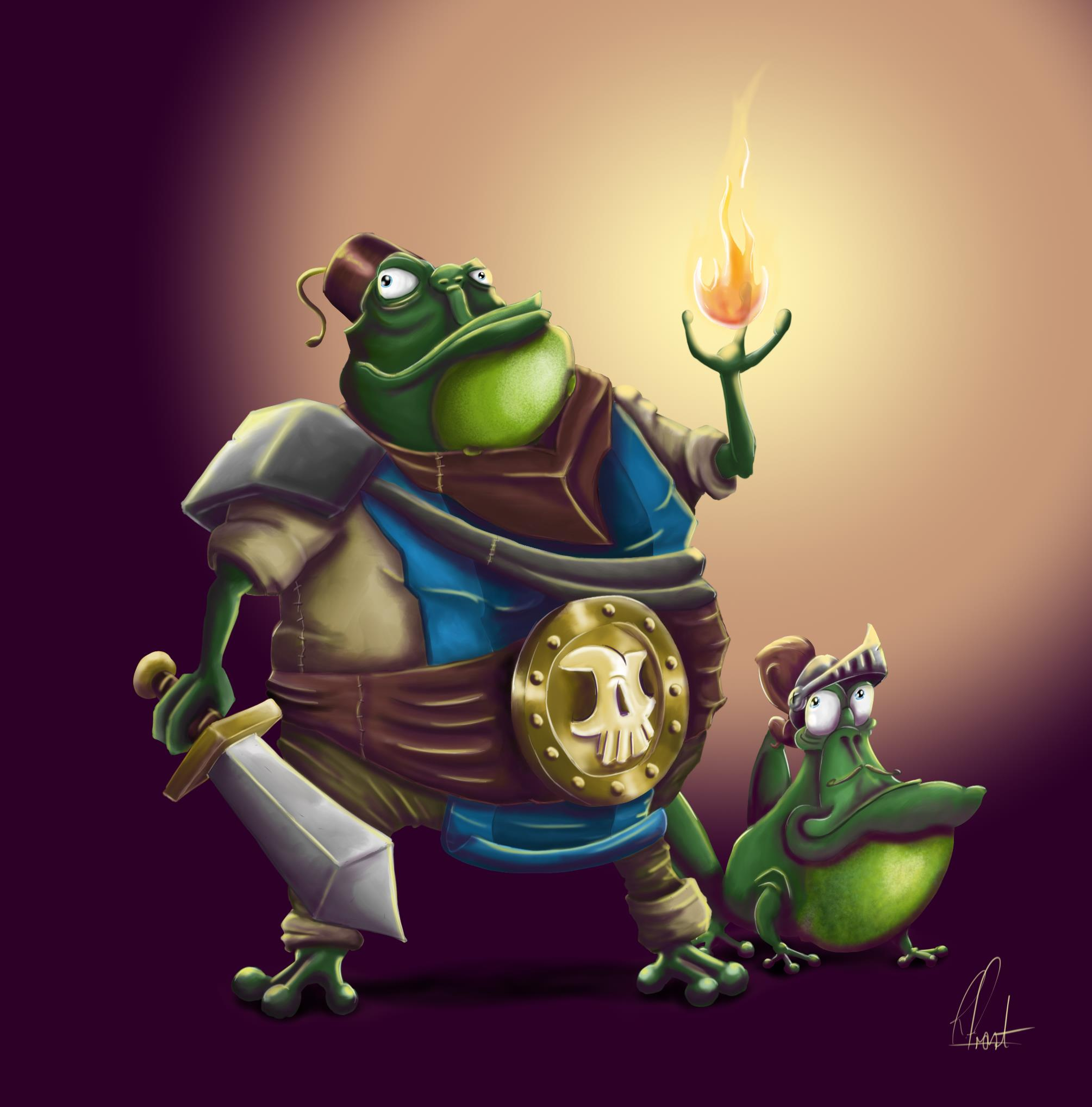 The Amazing Mr Toad & his fabulous assistant Sir Hopps