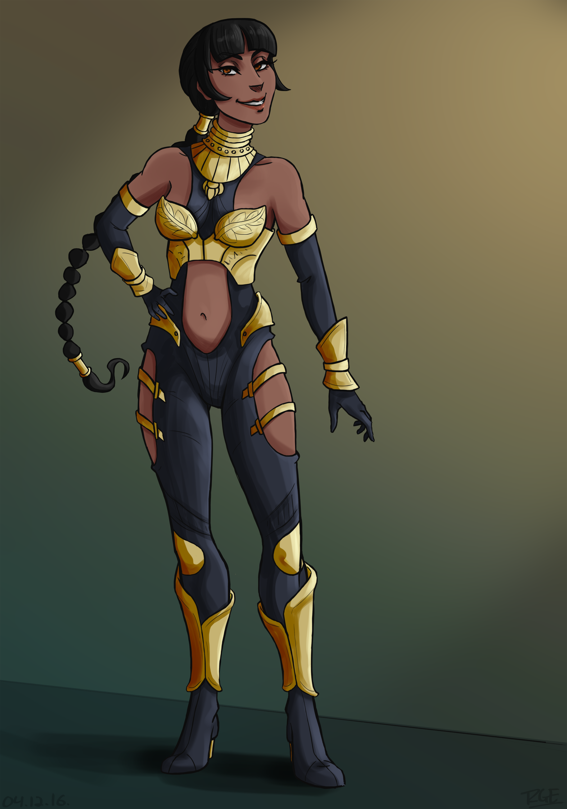 Tanya - MKX Concept Art Outfit [Fanart]