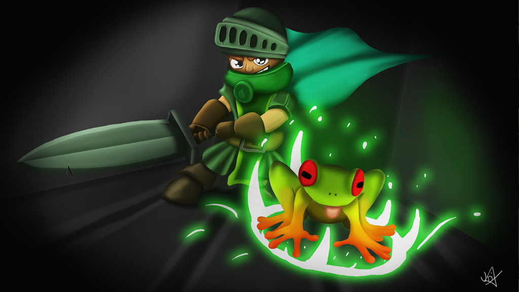 Knight and Frog