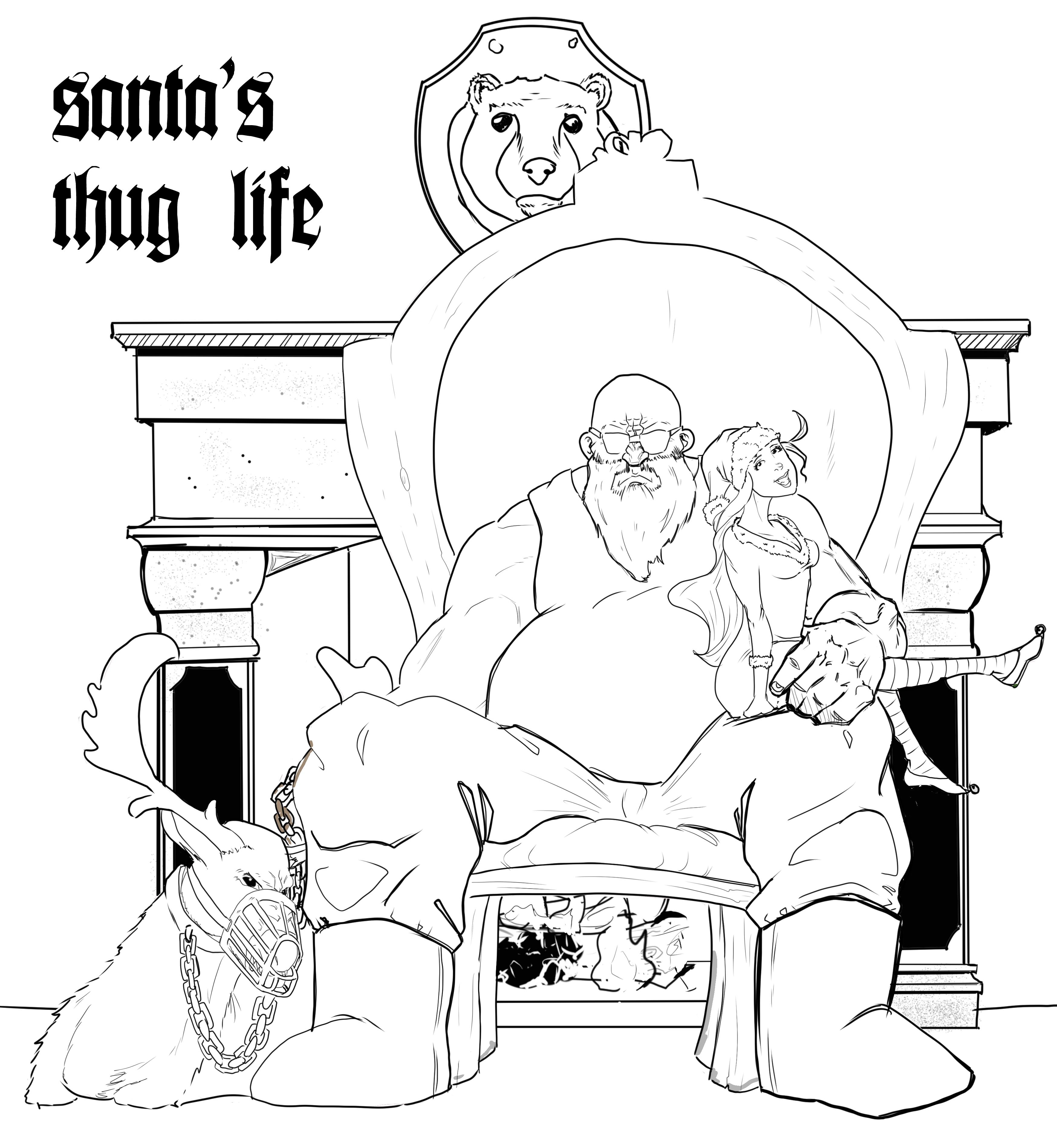 santa's thug life
