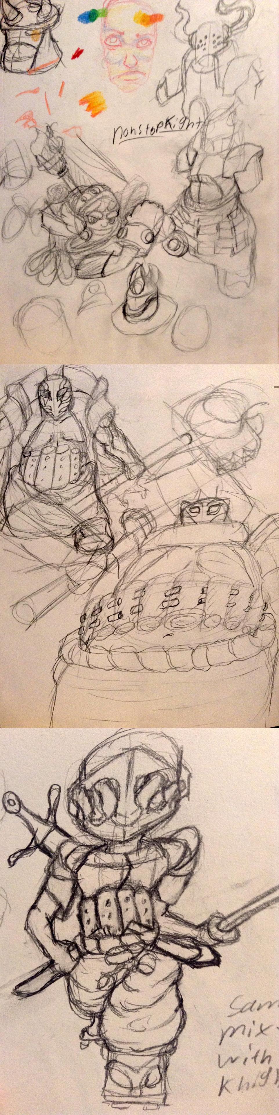 hero and pet wip sketch