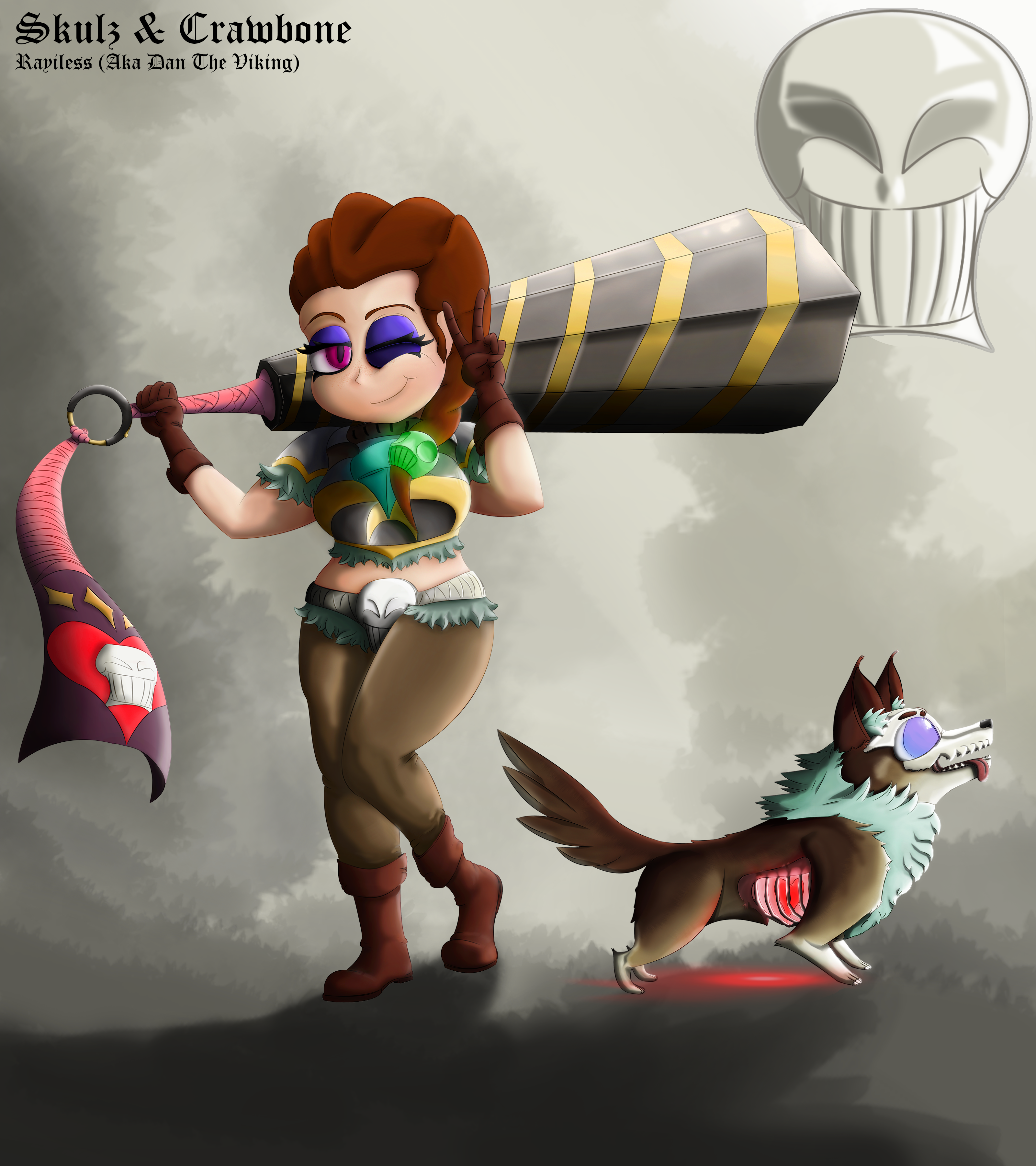 Meet: Skulz the Barbarian and Crawbone the Zombie Pup!