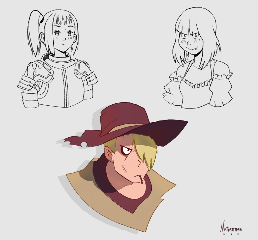 Cowboy and Warrior Girl