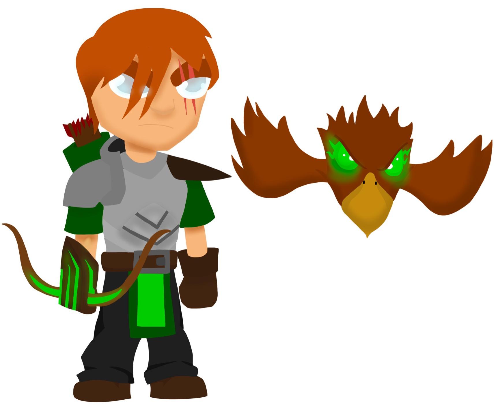 Eagle eyes archer