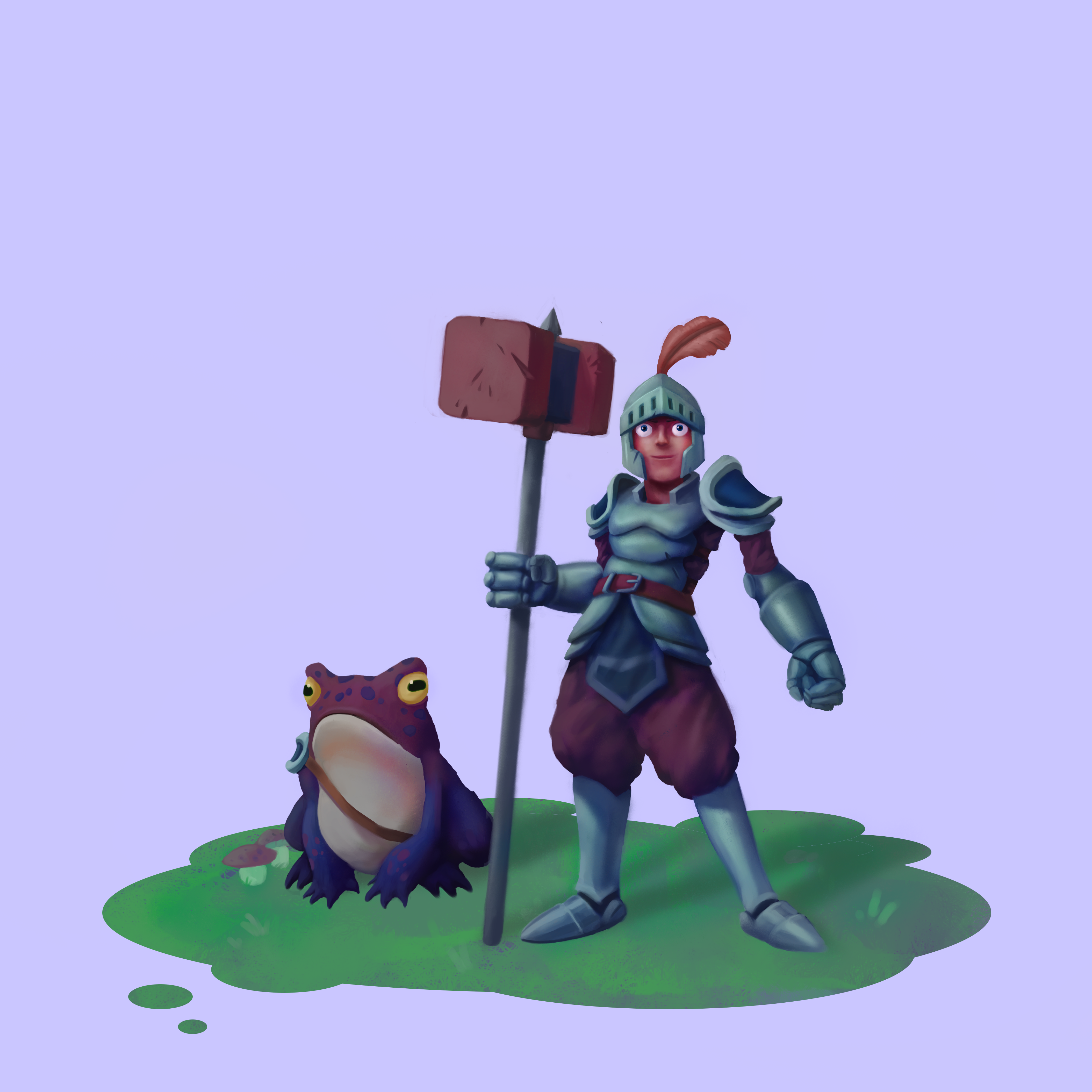 Knight and his toad companion