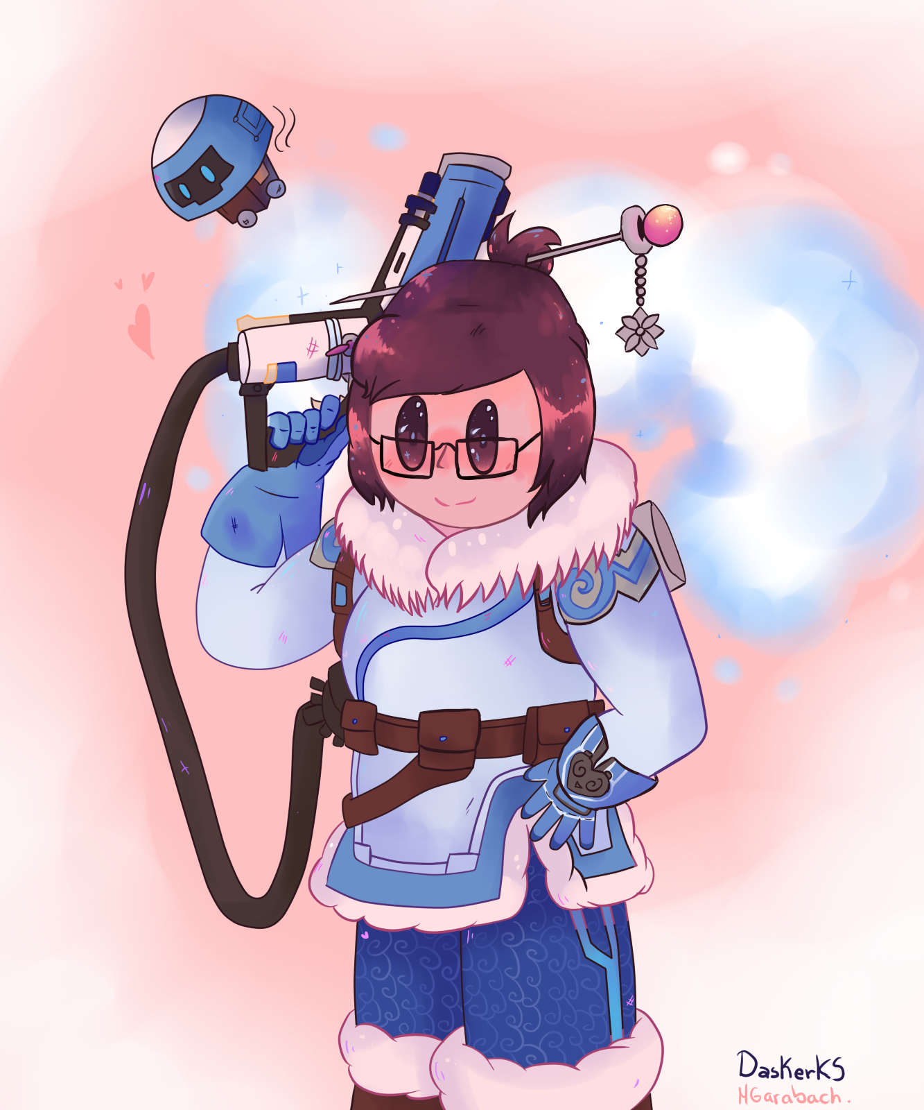 Mei and her tiny bot