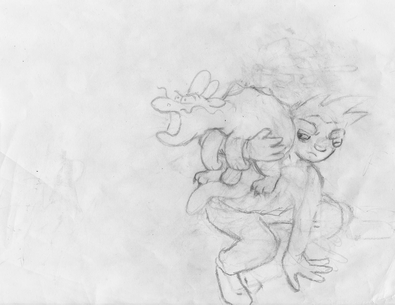 Hero and Pet sketch