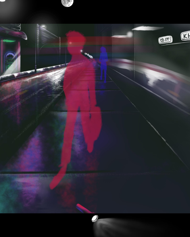 Neon sidewalk