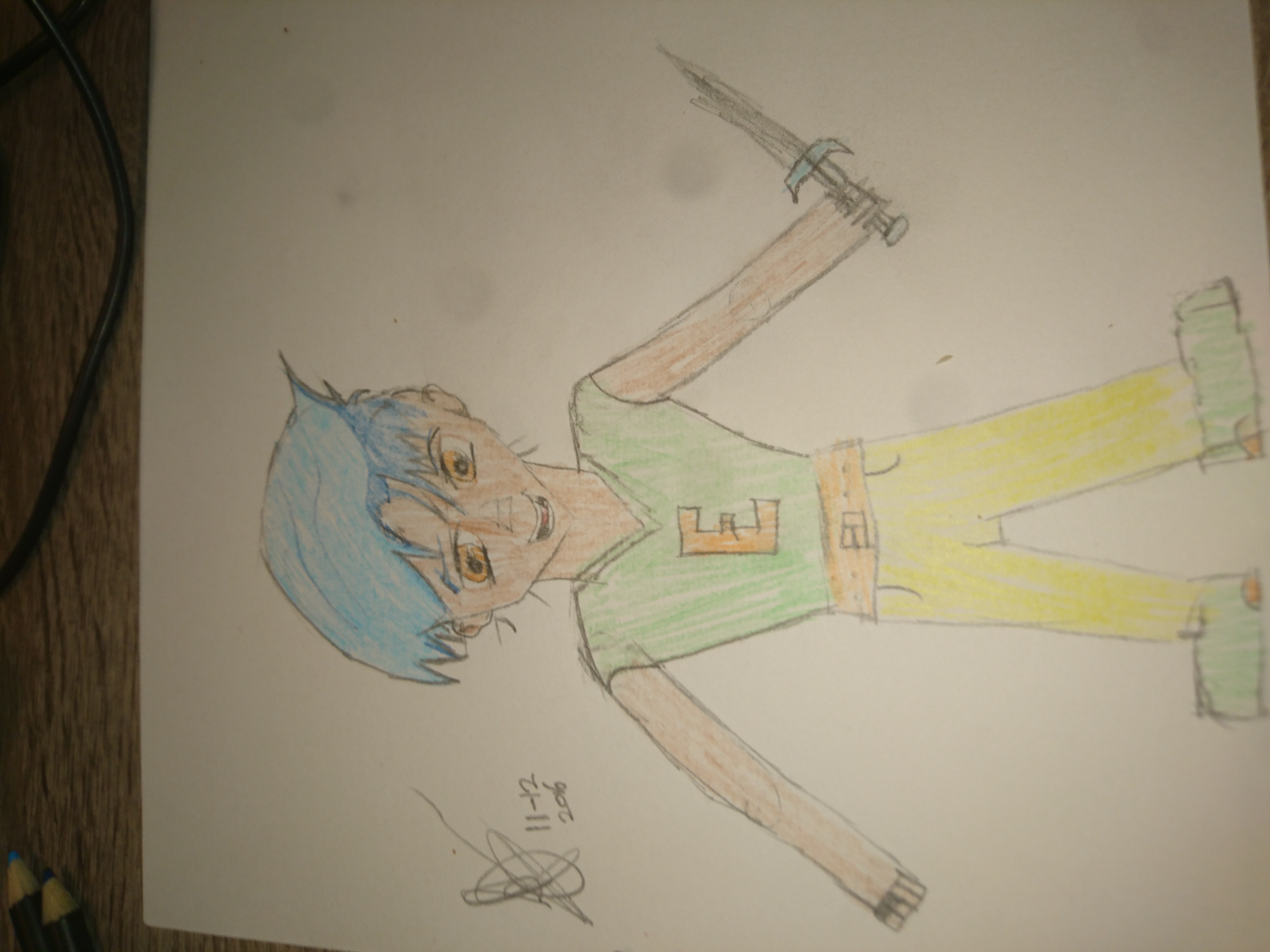 Pencil & Color try out.