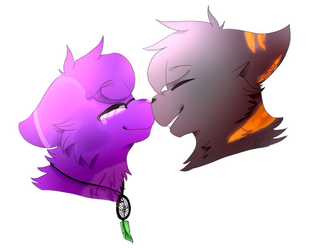 Double Headshot Commission for XxMistyMuffinxX on DA