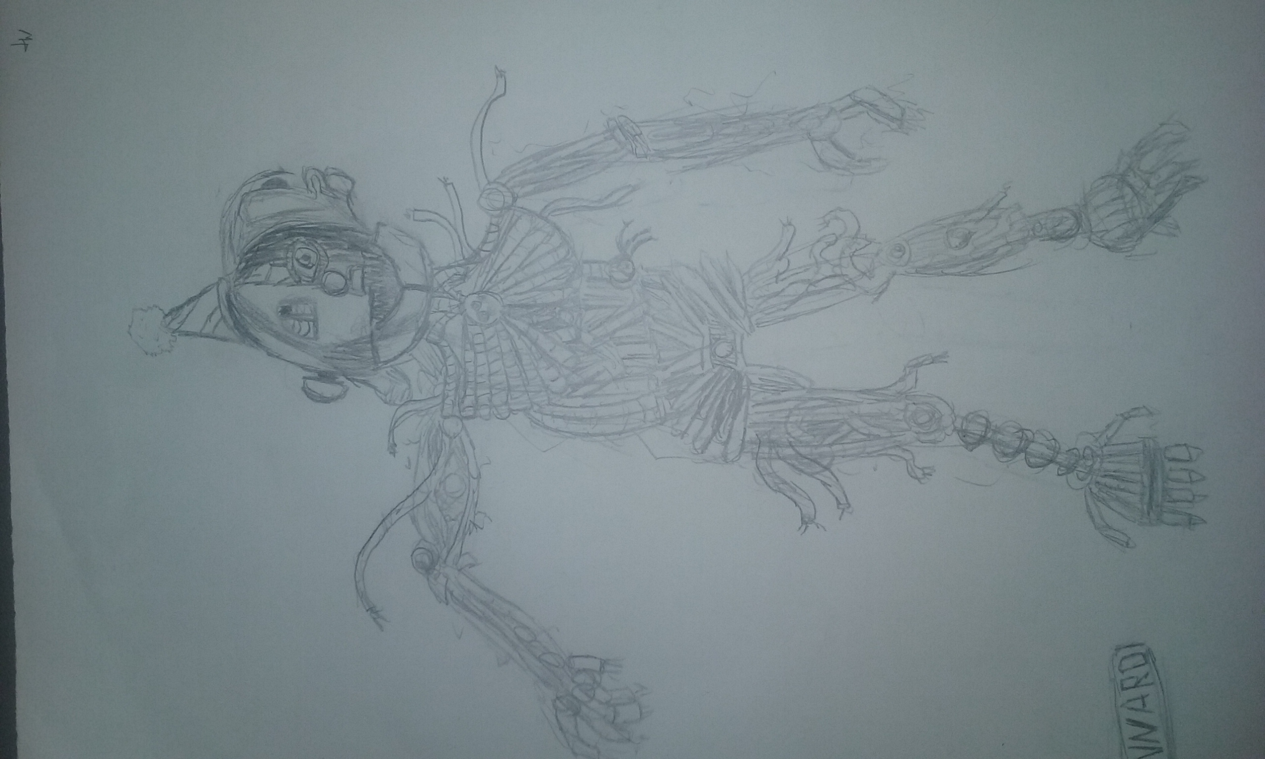 Hand Drawn - Five Nights At Freddy's Sister Location : Ennard