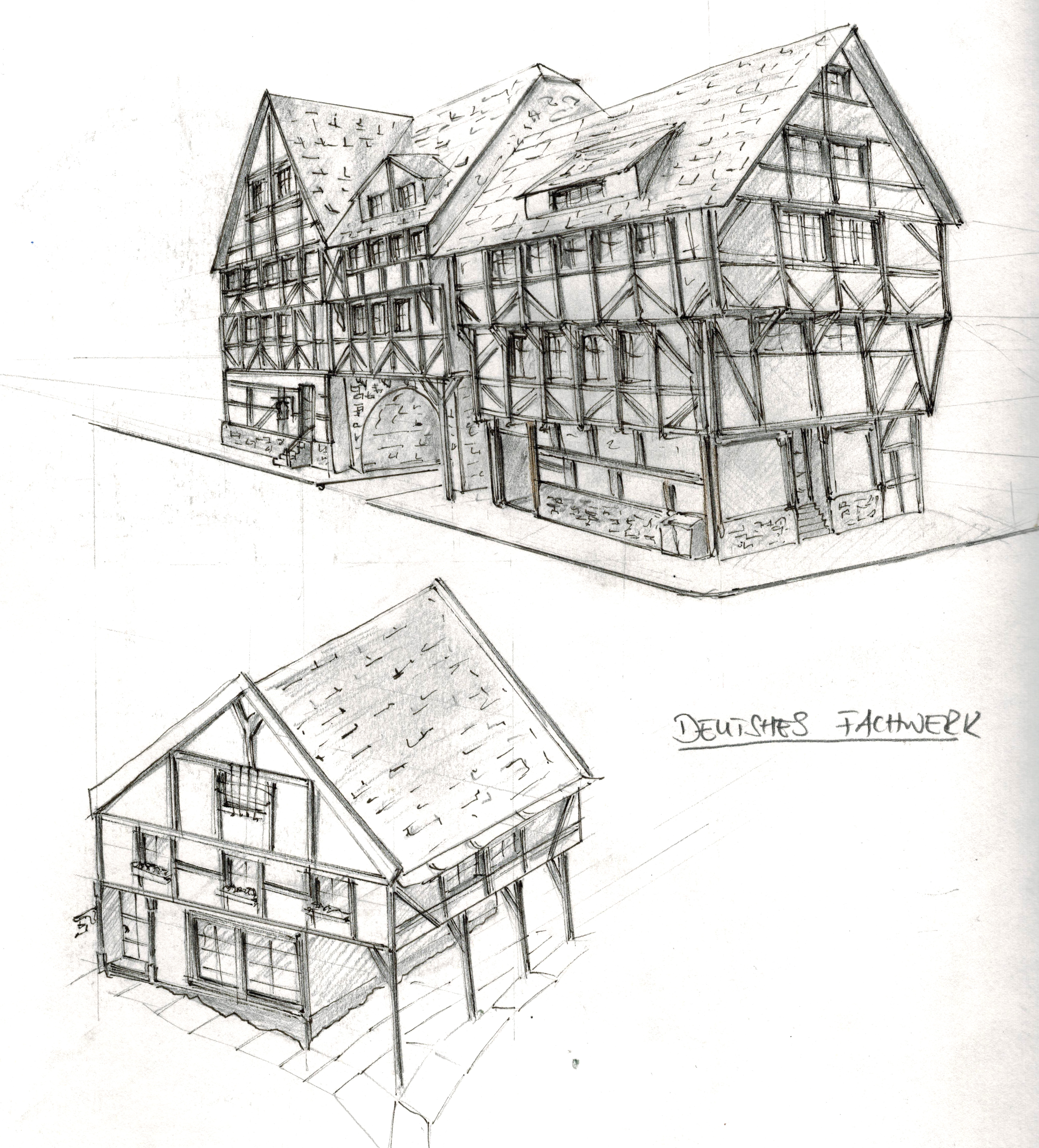 Timbered (My 2016 Sketch Book Nr. 4)