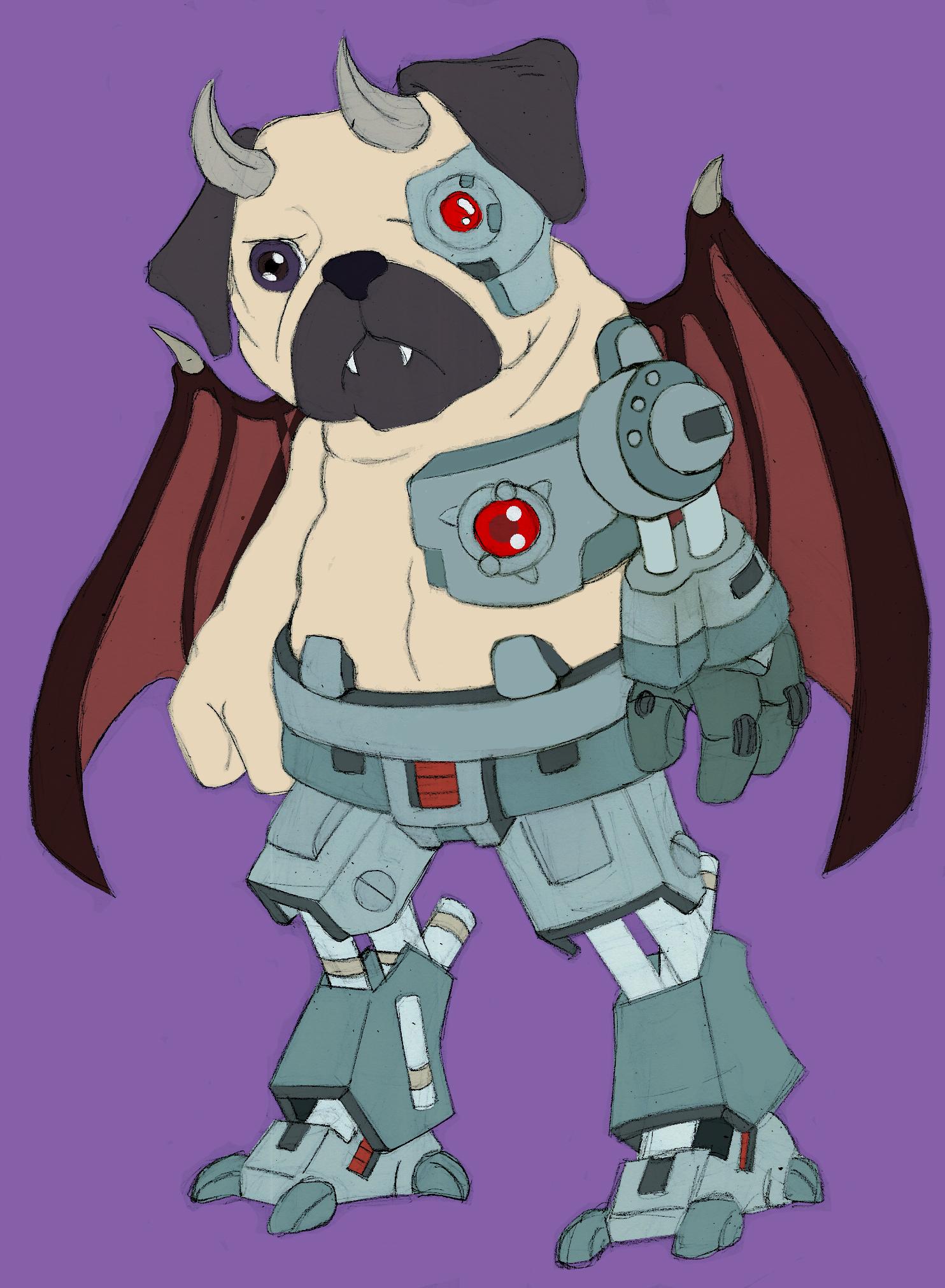 Demonic Pug of Black Chaos - Sketch