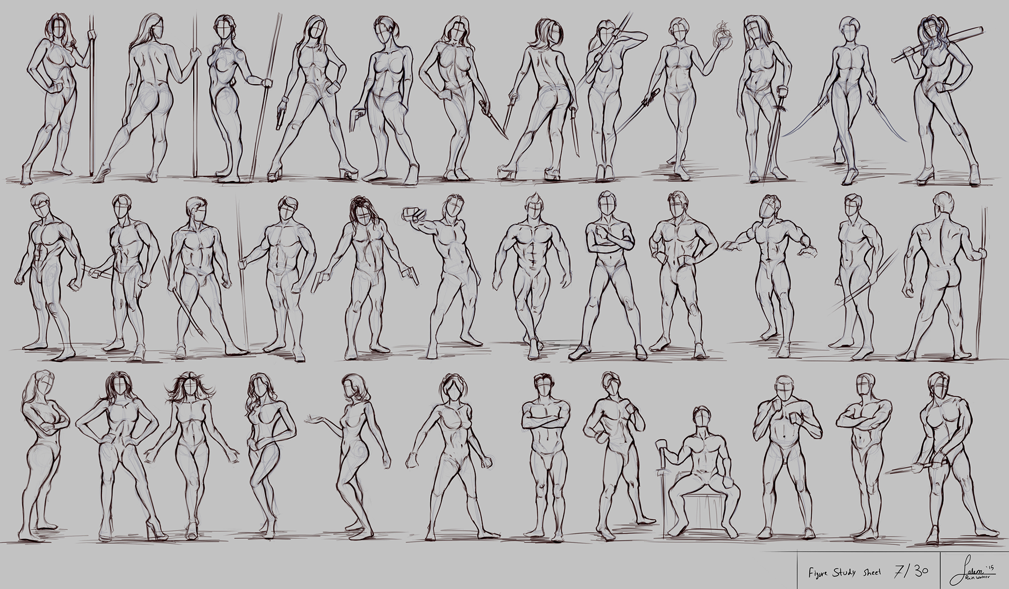 Figure Drawing - Part 7/30 (Fighting Stance)