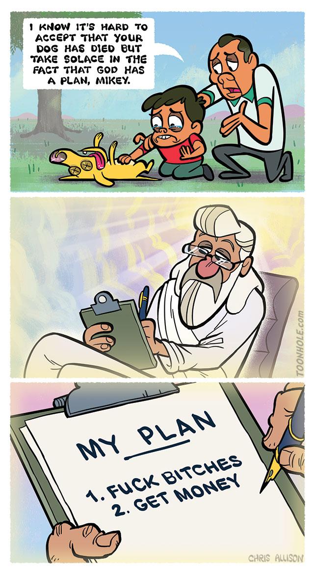 God has a plan.
