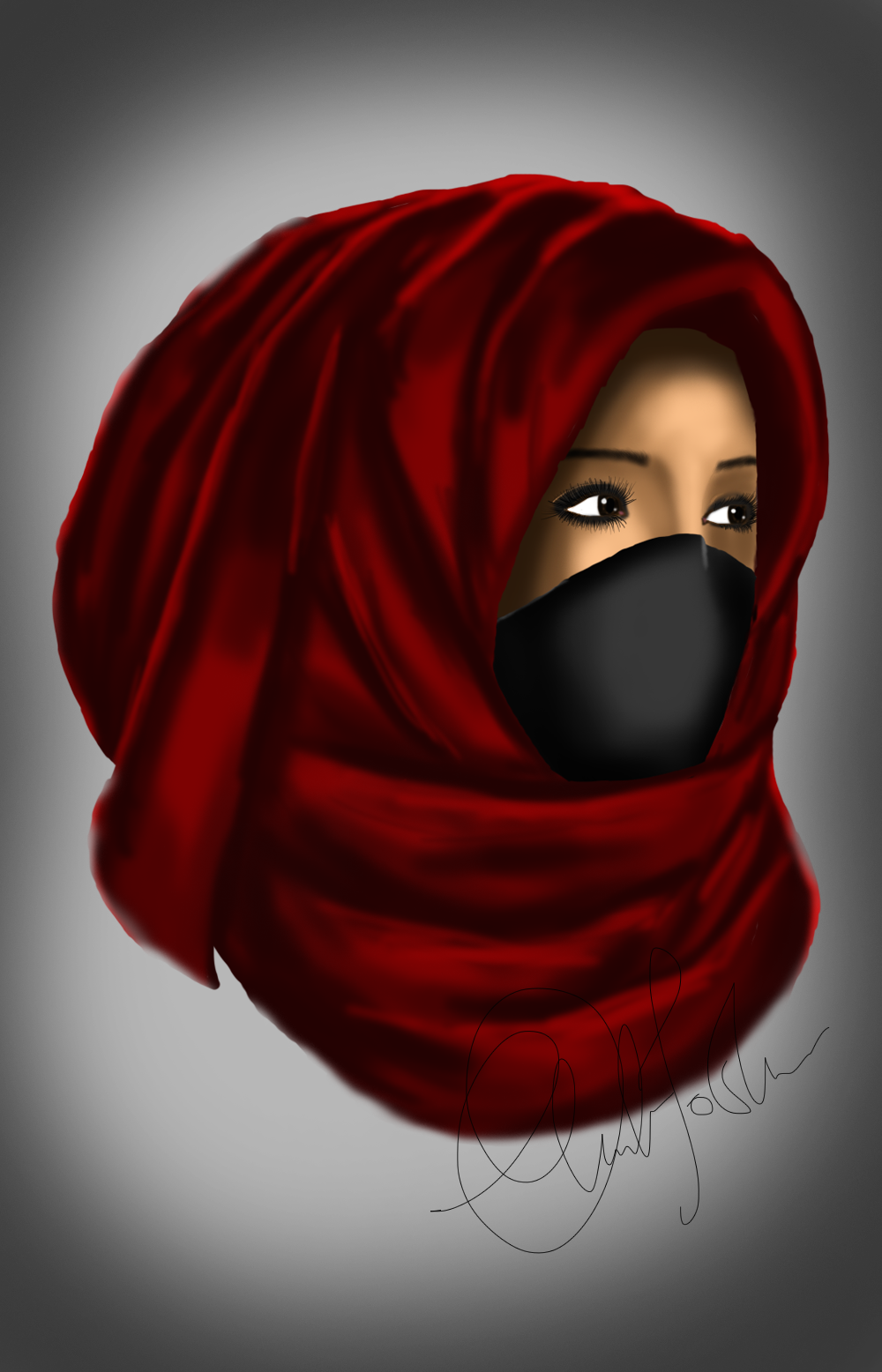 Masked Girl Portrait