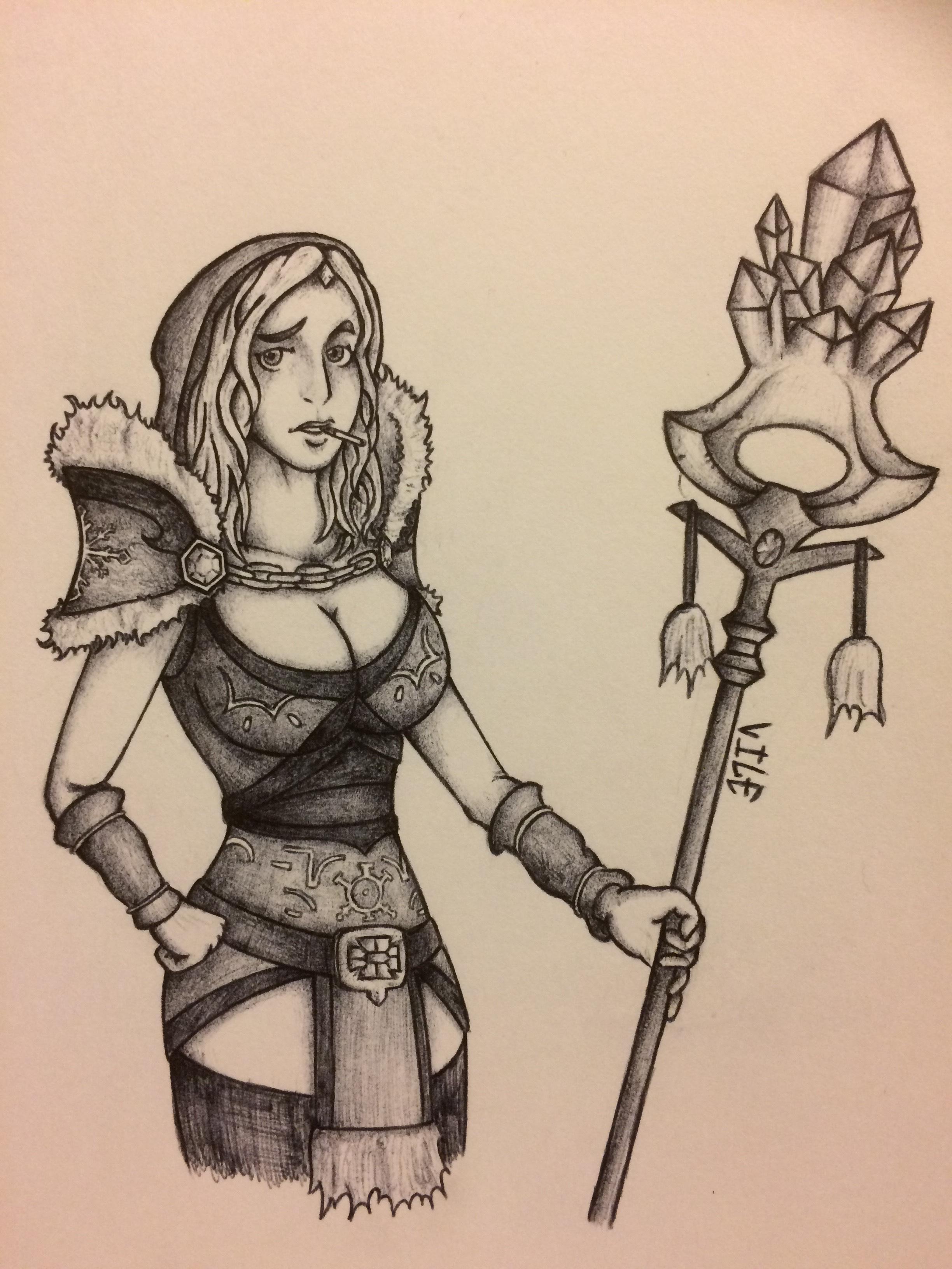 Crystal Maiden Pen Doodle Insert Title Here lololololol