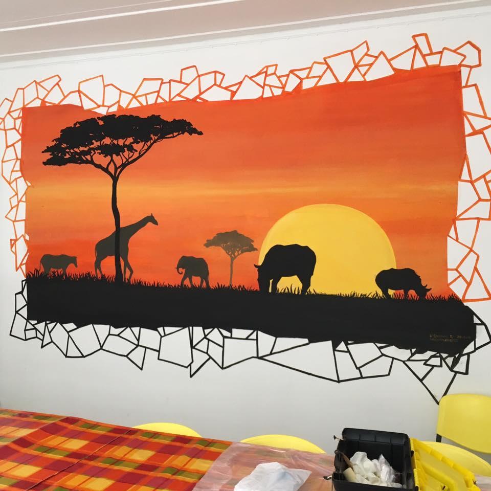 african mural in my school
