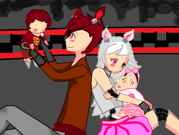 Foxy and Mangle (VERY OLD Art)