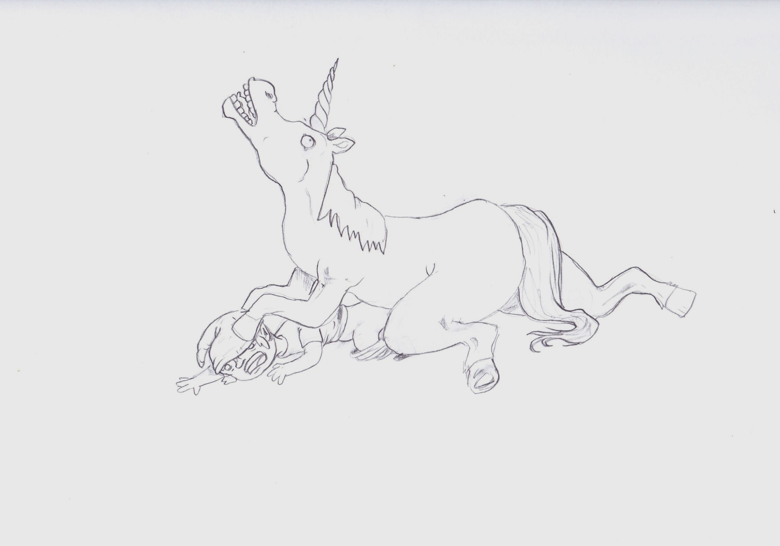 Unicorn making love to keebler elf