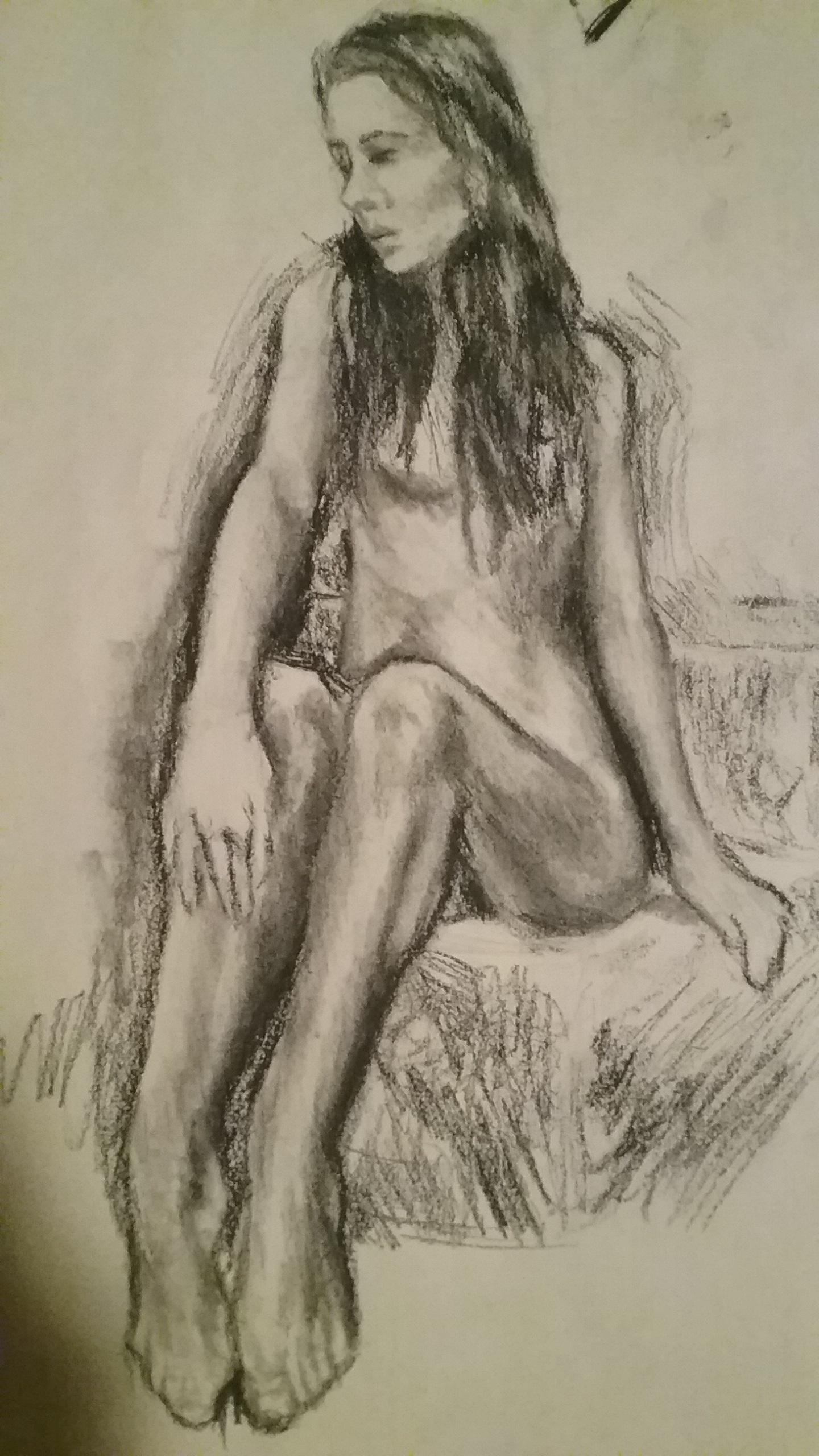 Sitting Figure Study