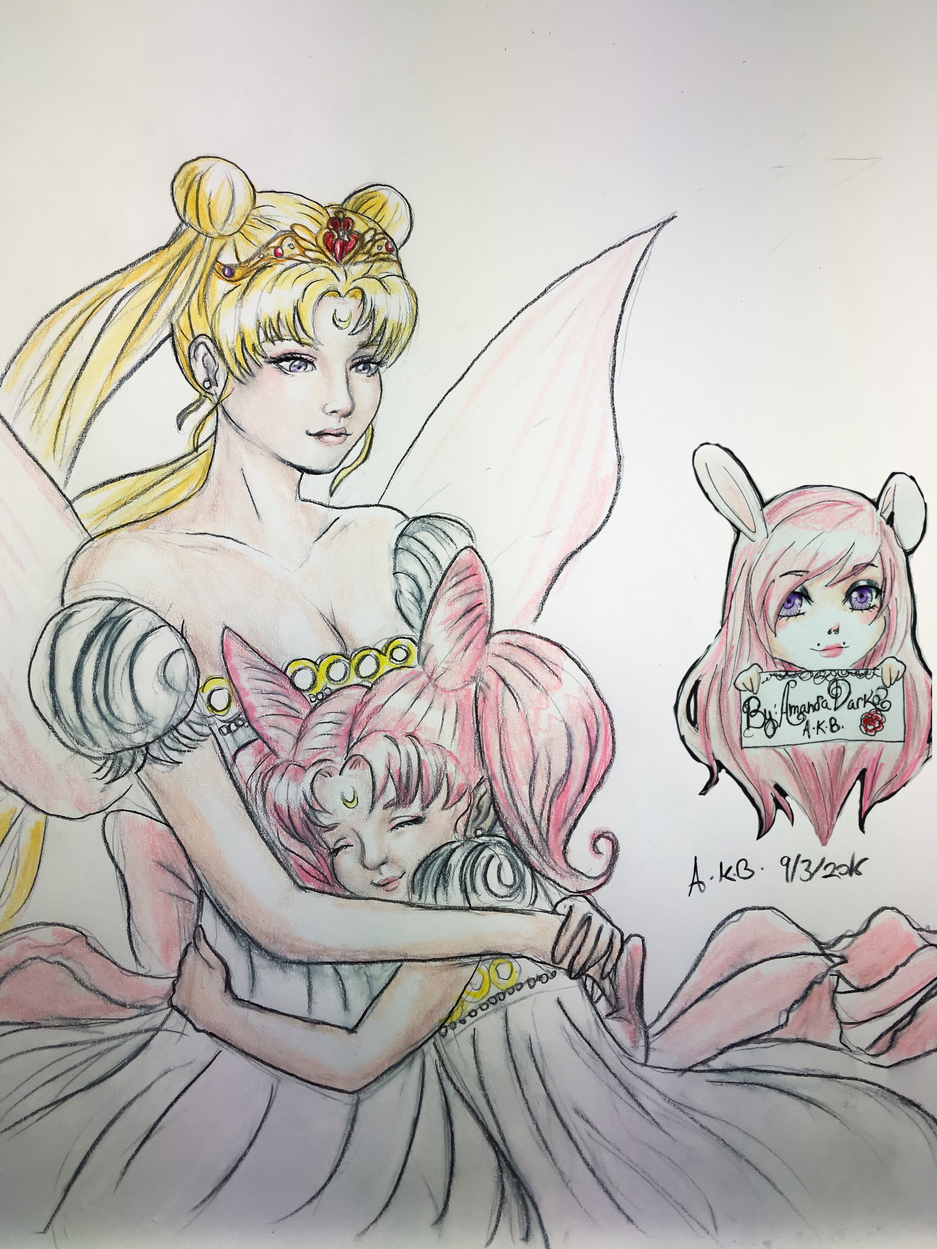 Serenity and Chibiusa doodle