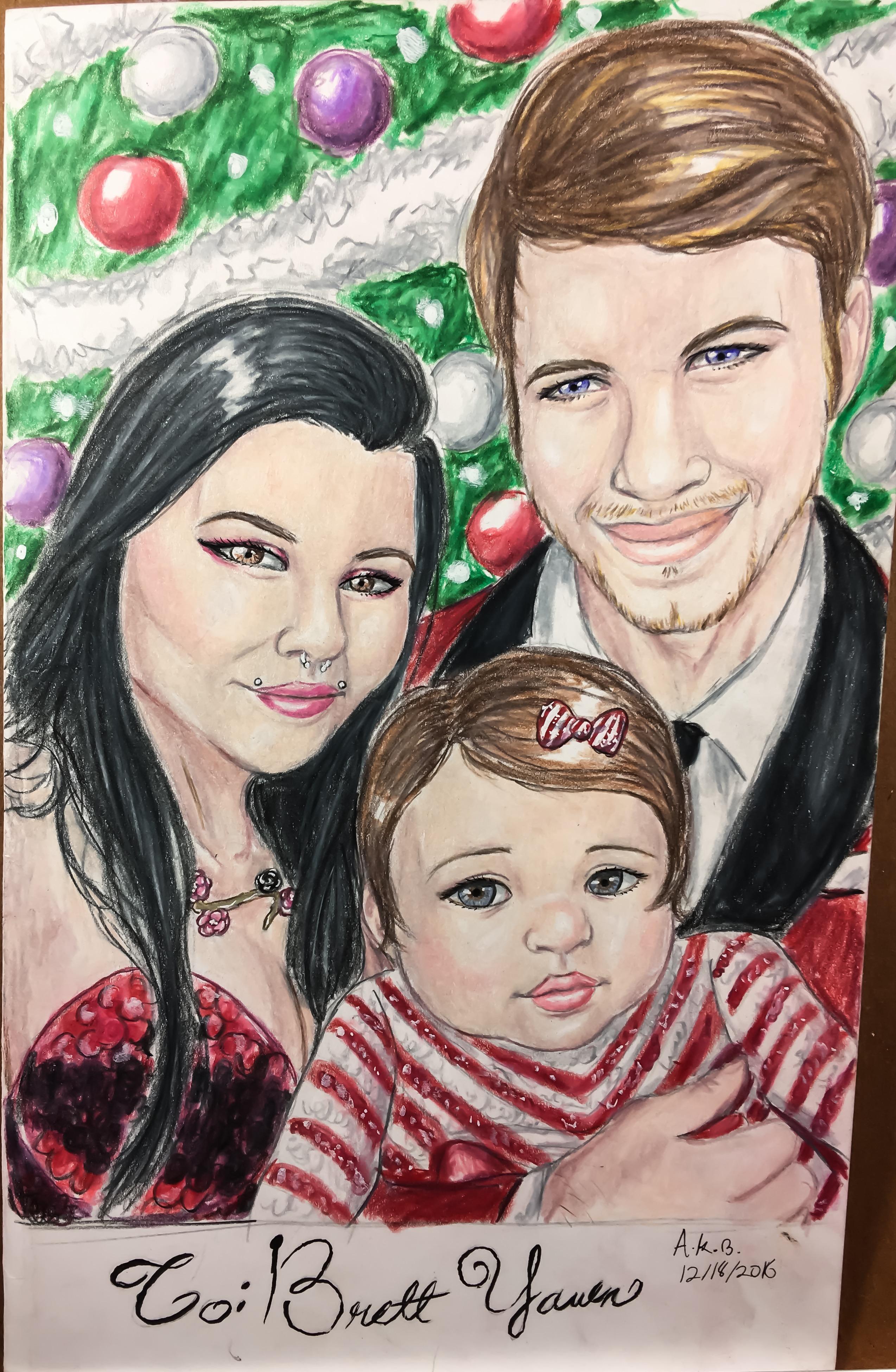 Family Christmas card portrait