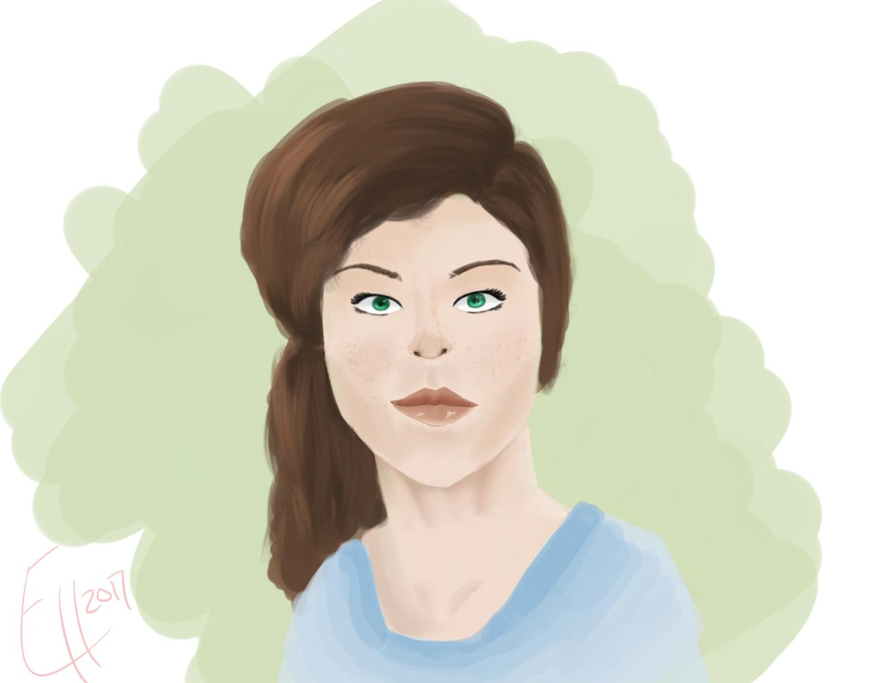 Digital Painting 030 - A Face