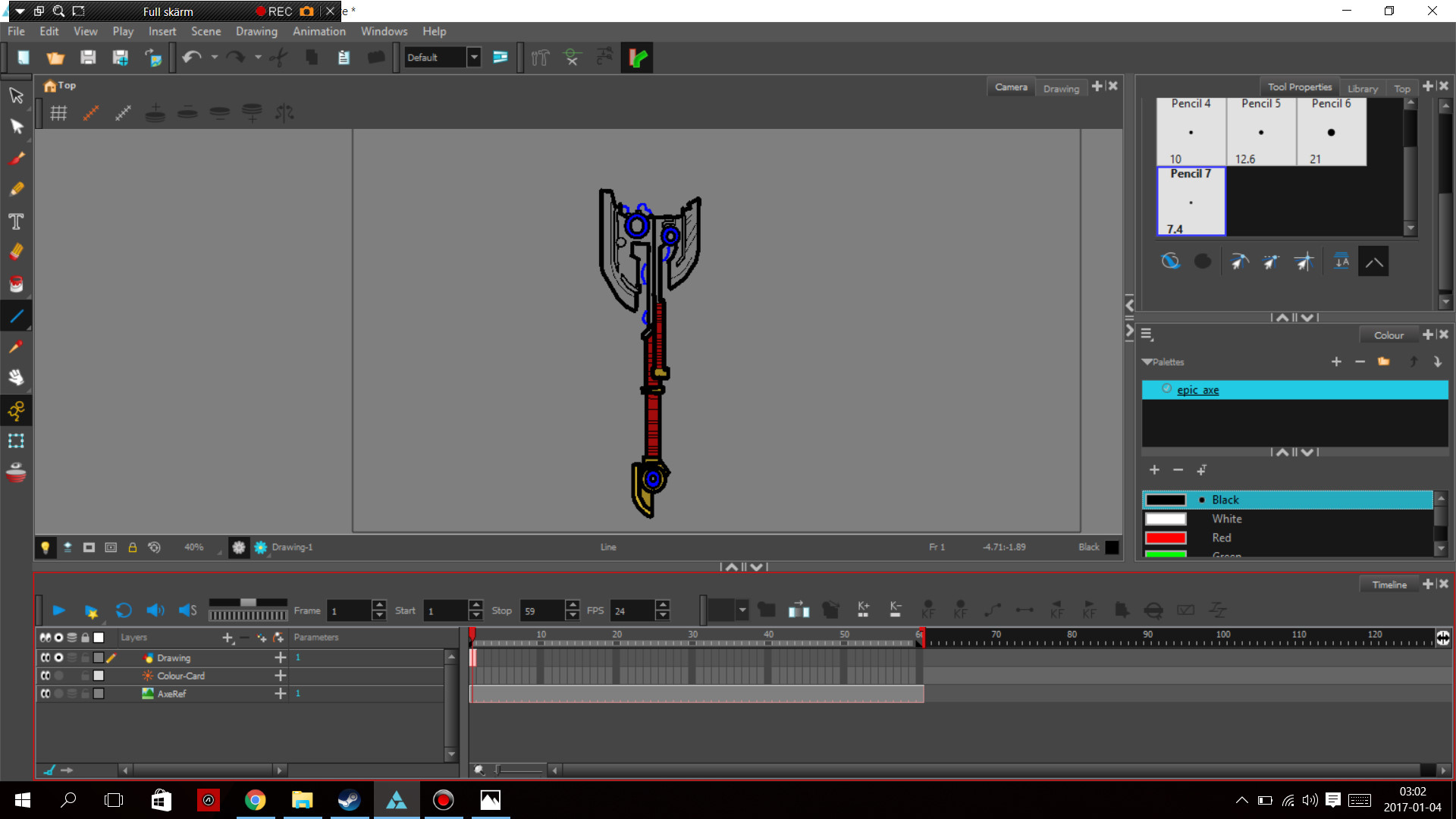 unfinished axe