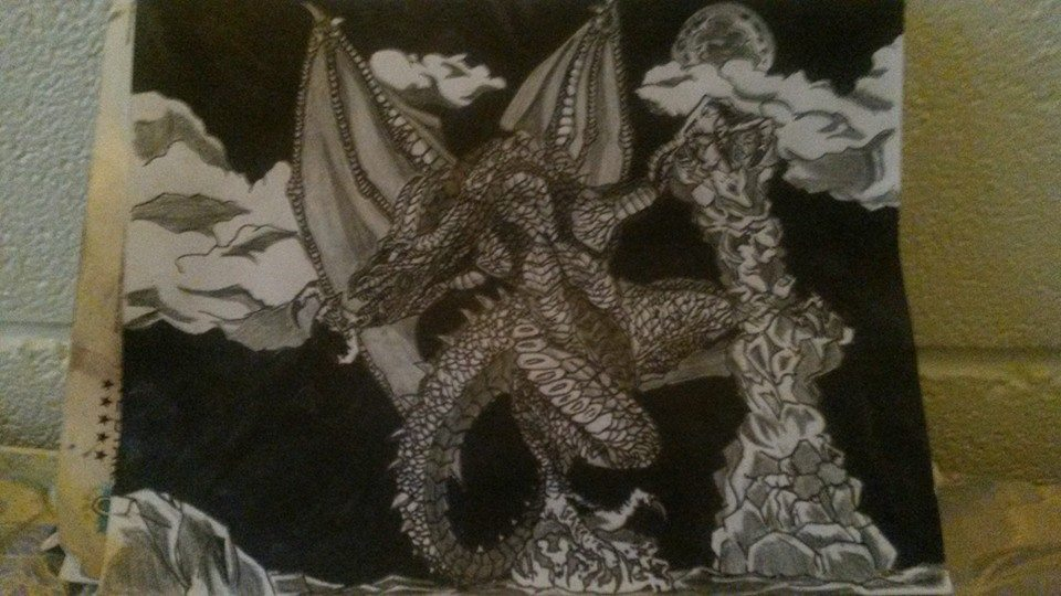 3D Dragon Art