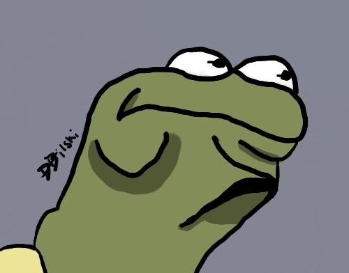 "Kermit ""Hmmmmmm!"" face"