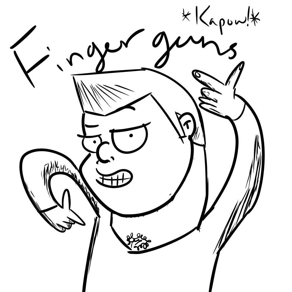 Finger guns baby