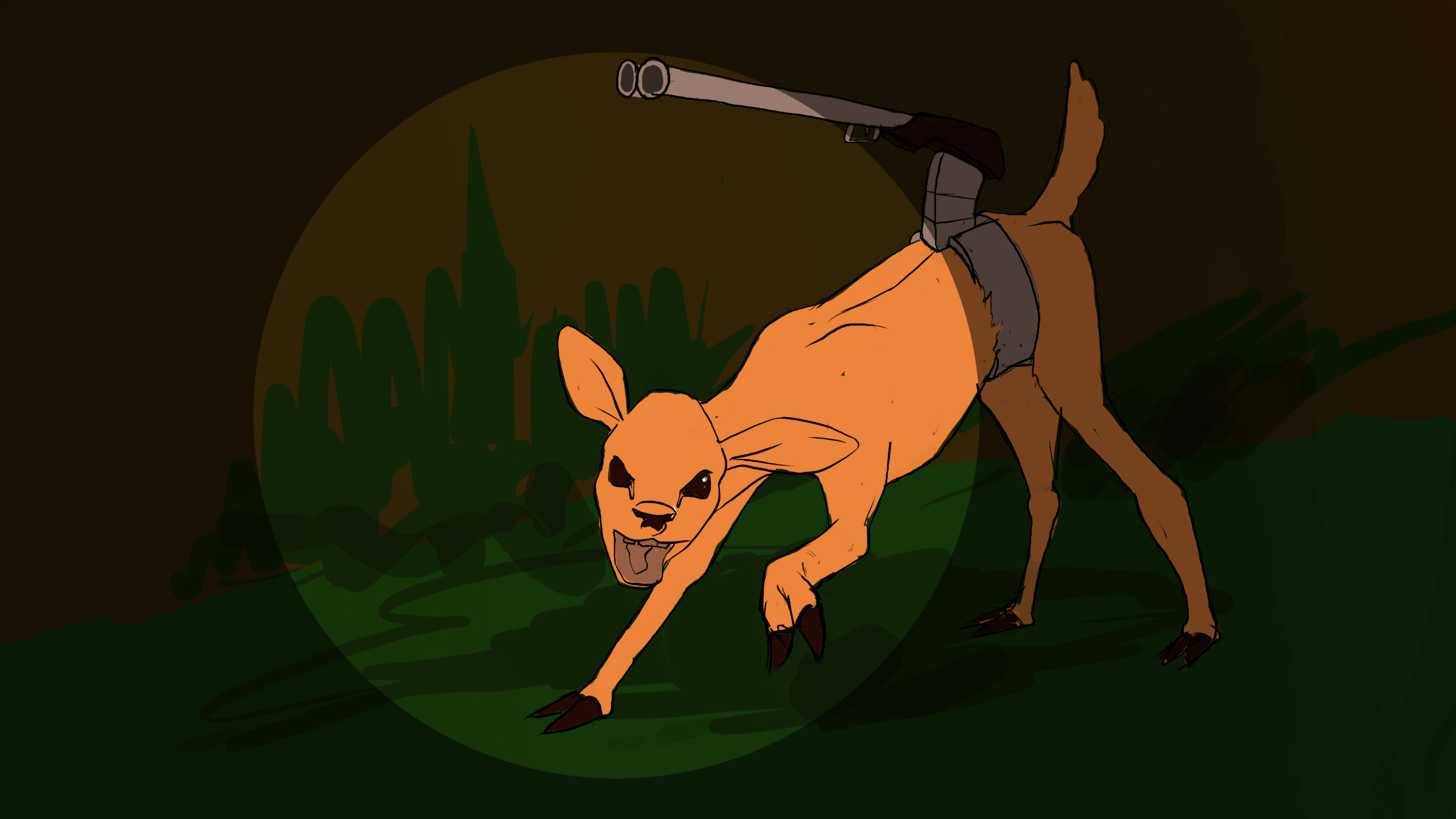 Deer Has a Rifle