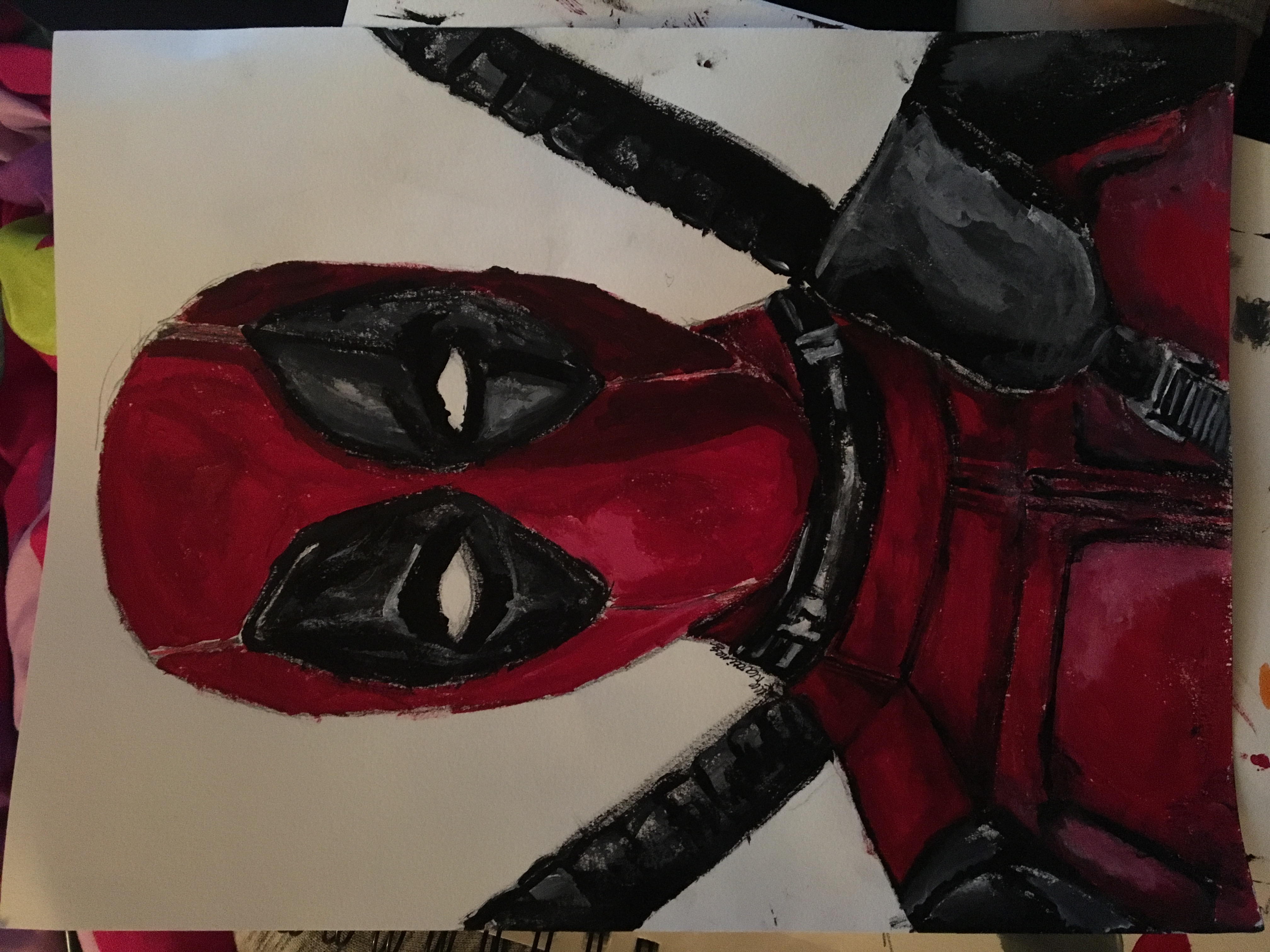 Deadpool with white background