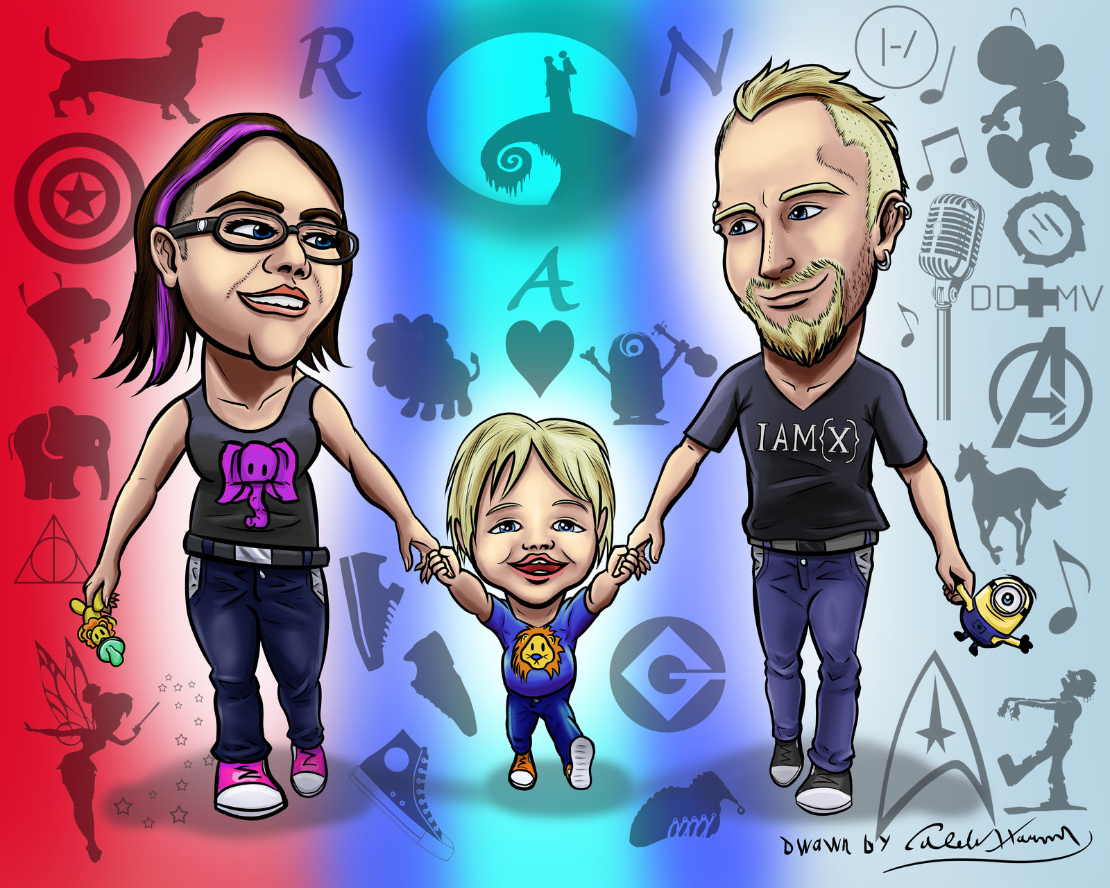 Family Caricature #2