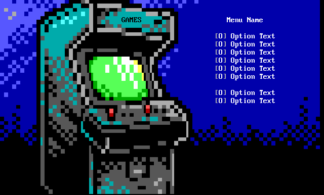 Arcade BBS Screen