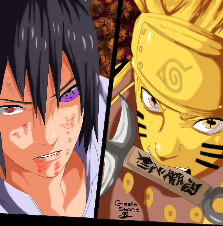 naruto and sasuke fan art