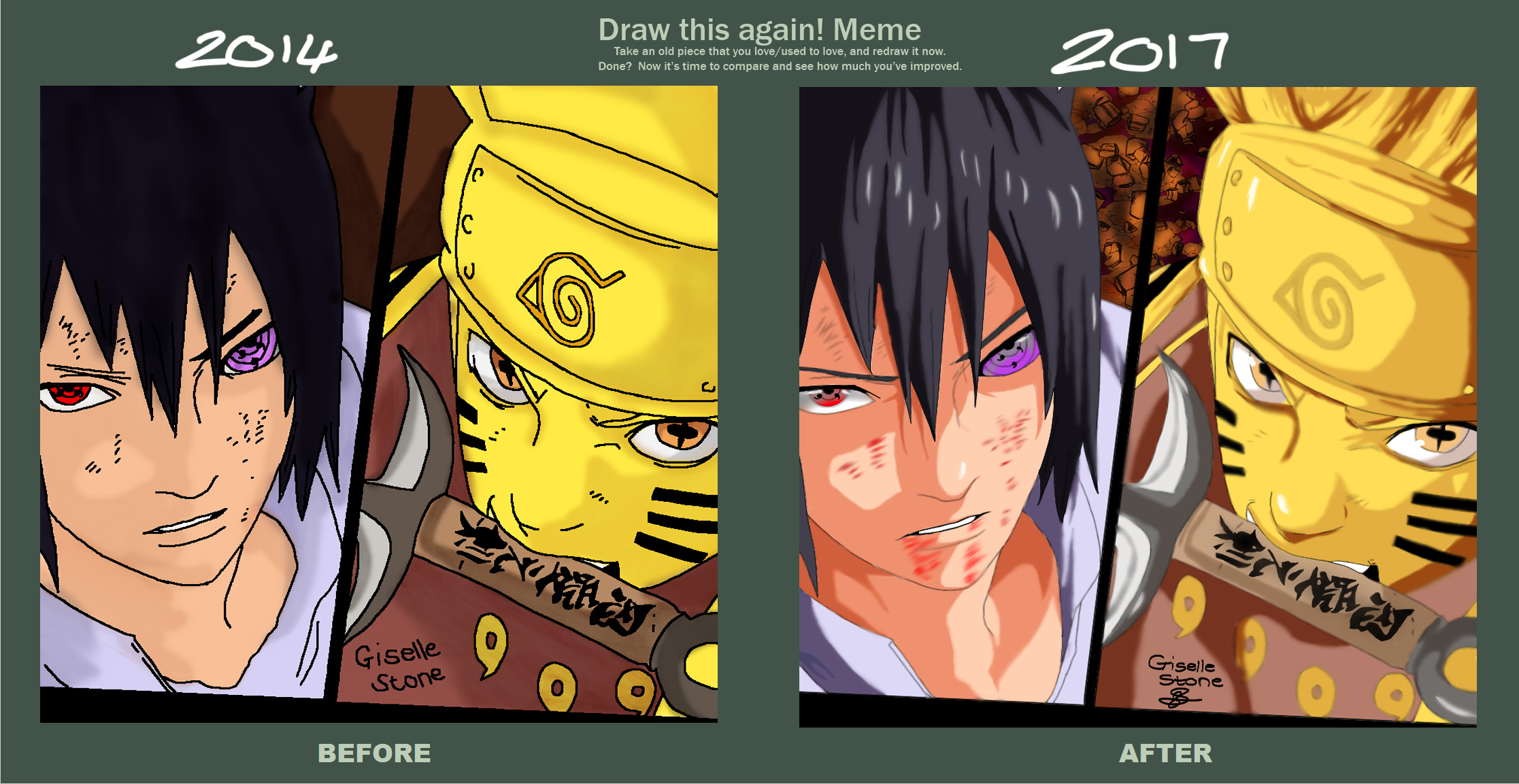 naruto and sasuke draw that again meme