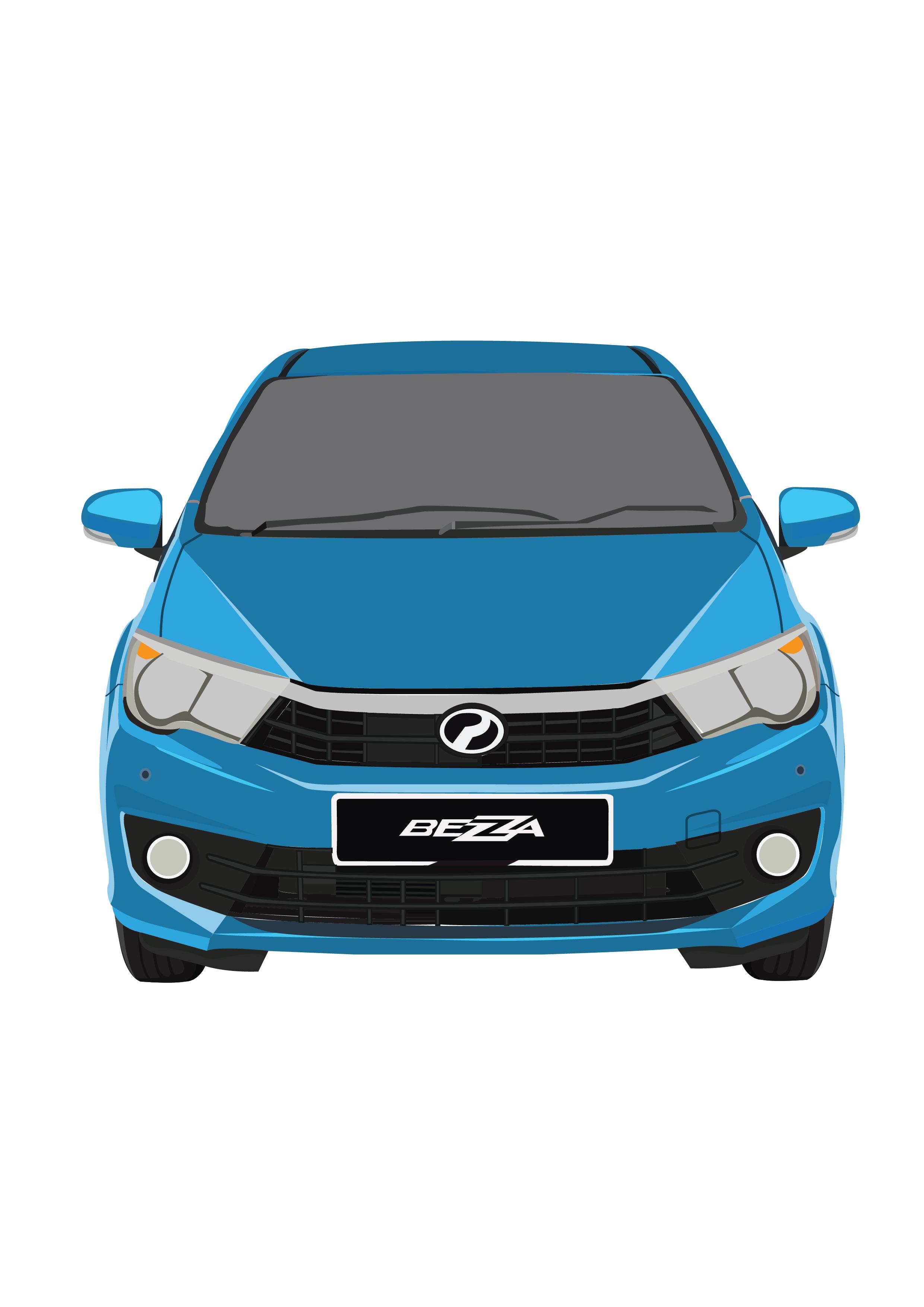 Perodua Bezza - Ocean Blue