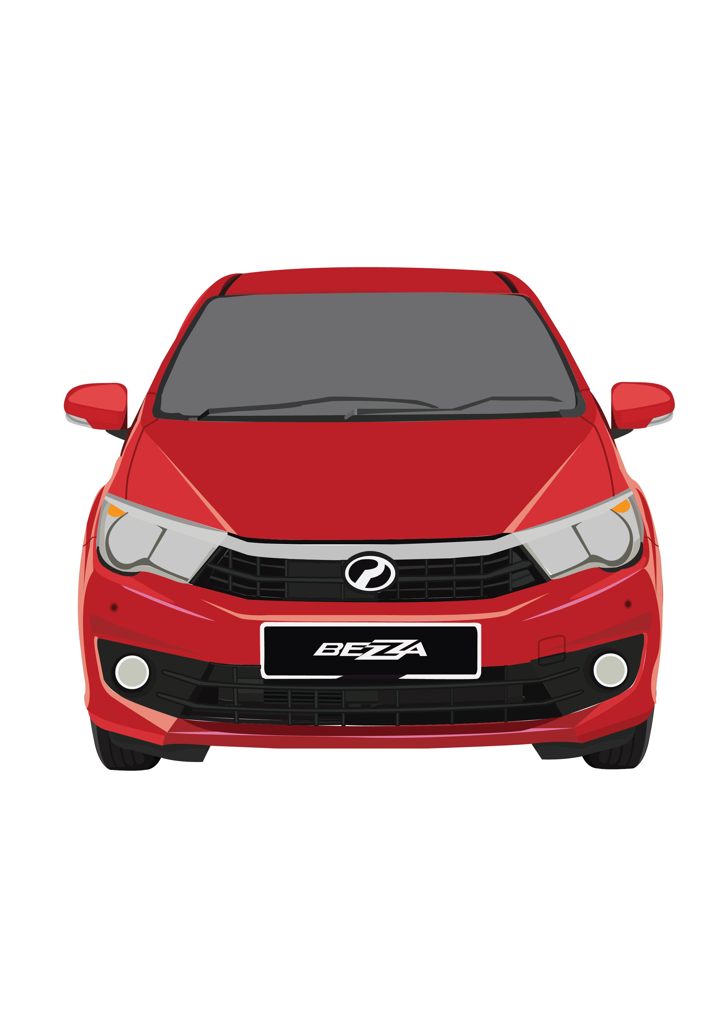 Perodua Bezza - Lava Red