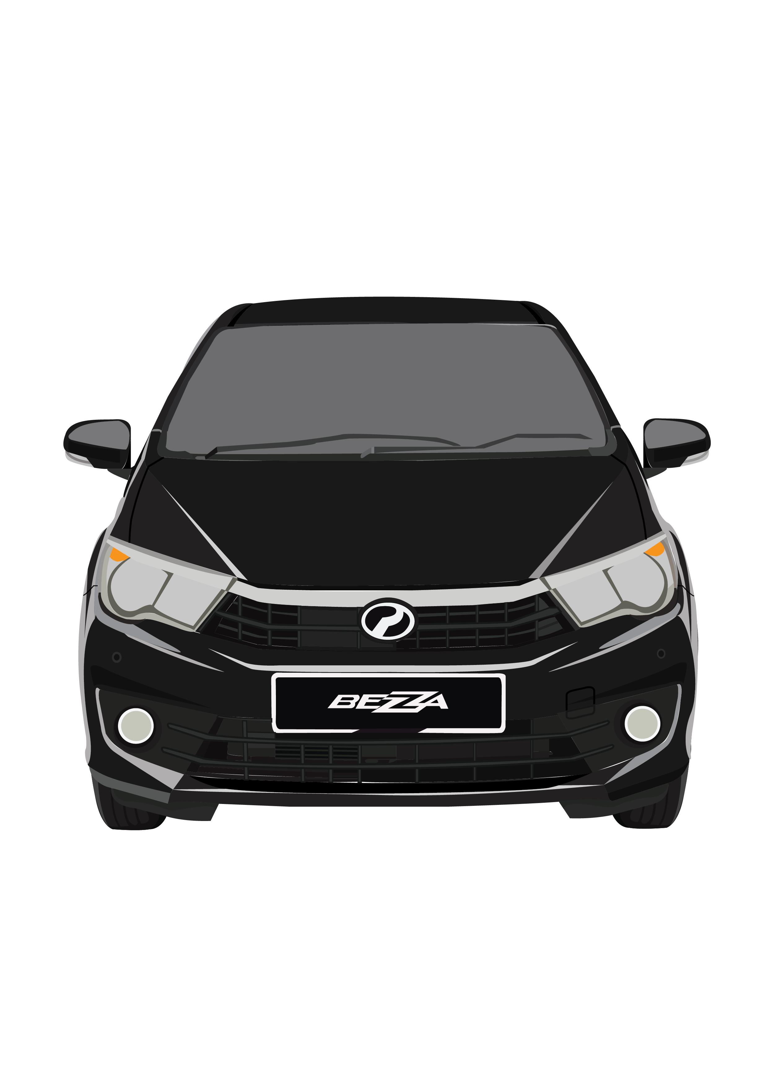 Perodua Bezza - Ebony Black
