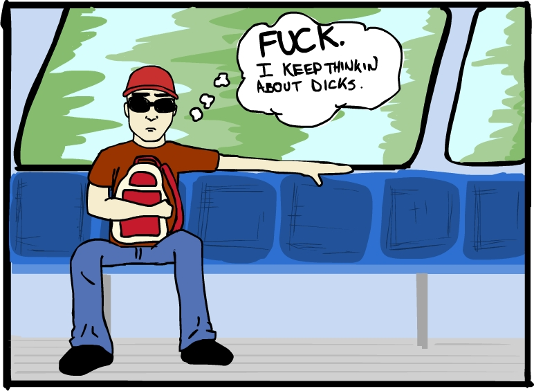 Guy on bus