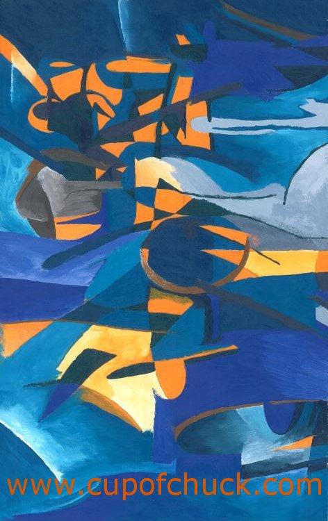 Blue and Orange Cubism
