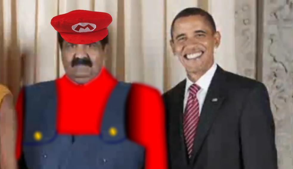 Obama meets Mario!