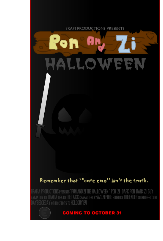 Pon and Zi Hallowen Poster
