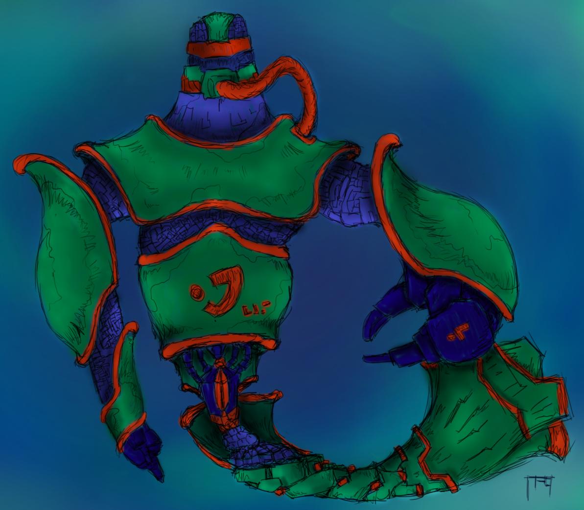 Aquatic Robot Neon