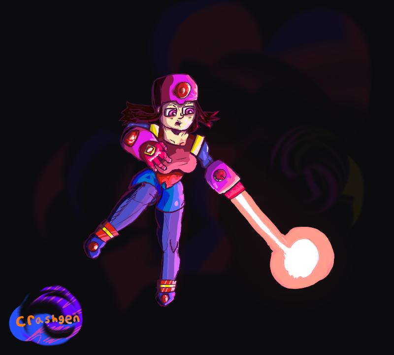 Pixel Blaster girl