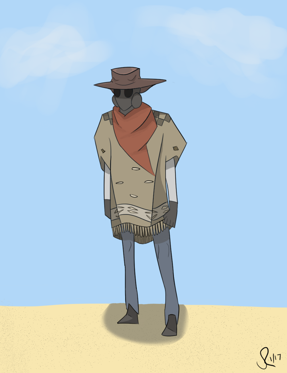 Gasmask Cowboy II